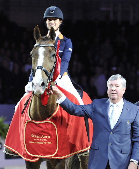 Adelinde and Galahad at 2012 World Cup ceremony