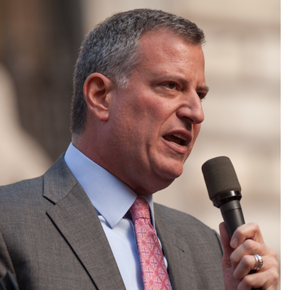 New York Major Bill de Blasio