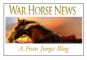 War Horse News small gold logo badge