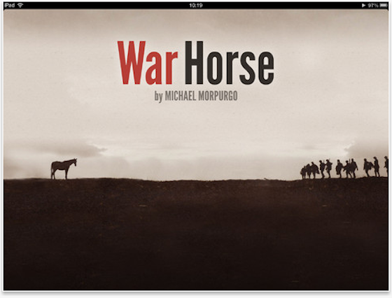 War Horse app title screen