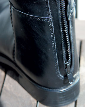 Zippers on tall boots now extend all the way to the sole.