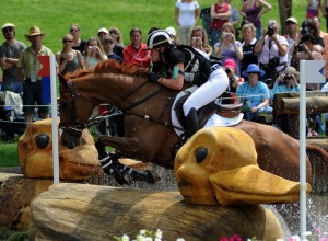 Newcomer Sinead Halpin on Manoir de Carneville moved into fourth place after cross-country.