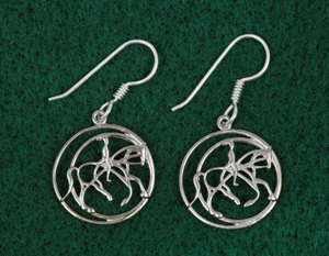 Canter Circle Earrings from Trotting Park Workshop