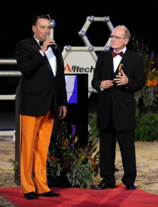 National Horse Show President Mason Phelps and Dr. Pearse Lyons of Alltech