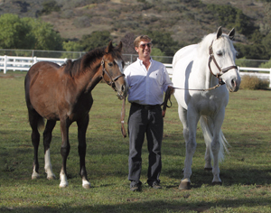 Mark Watring with Sapphire and his clone Saphir