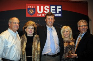 Boyd Martin, center, at the Horse of the Year awards with two couples that are members of the Neville Bardos syndicate: Spike and Jeanne Sylvester and April and Chuck Whitlock
