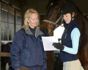 Looking over a horse lease or sale agreement