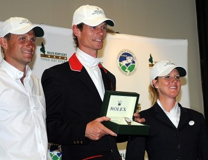 The Rolex top three: Boyd Martin, winner William Fox-Pitt and runner-up Allison Springer