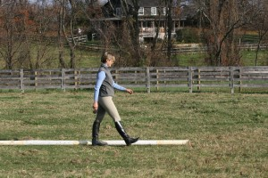 Learn to walk three-foot strides