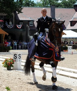 Steffen Peters took the National Grand Prix Dressage Championship on his number two horse, Legolas