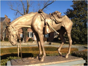 Civil War Horse Statue in Middleburg, Virginia