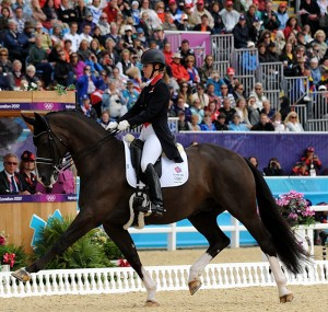 Charlotte Dujardin and Valegro scored 83.286 for Great Britain to head the results column in the Grand Prix Special (photo copyright 2012 by Nancy Jaffer)