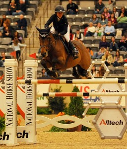 National Horse Show Leading Jumper Rider Lauren Hough and Quick Study