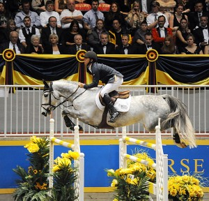 "Kent Farrington won the $75,000 Ricoh ""Big Ben"" Challenge on Uceko and was Leading International Rider at the Royal Winter Fair."