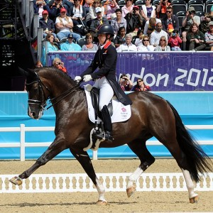 Olympic double-gold dressage medalist Charlotte Dujardin of Great Britain and Valegro