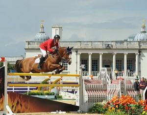 Rich Fellers and Flexible against the dramatic backdrop for equestrian sport at the London Olympics