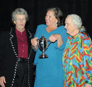 Lifetime Achievement winner Pam Baker (center) with past winners Gegi Winslett and Diana Dodge