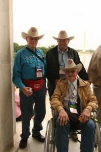 Honor Flight cowboys.